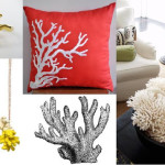 coral home decor