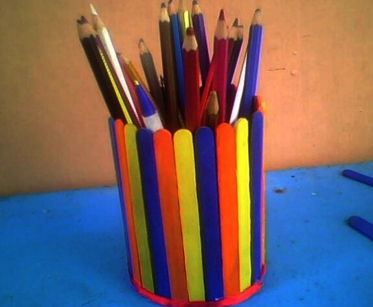We offer to make an unusual decor banks wooden sticks. We have created such  a lovely pencil holders and in this master class, we want to tell you how  it's ...