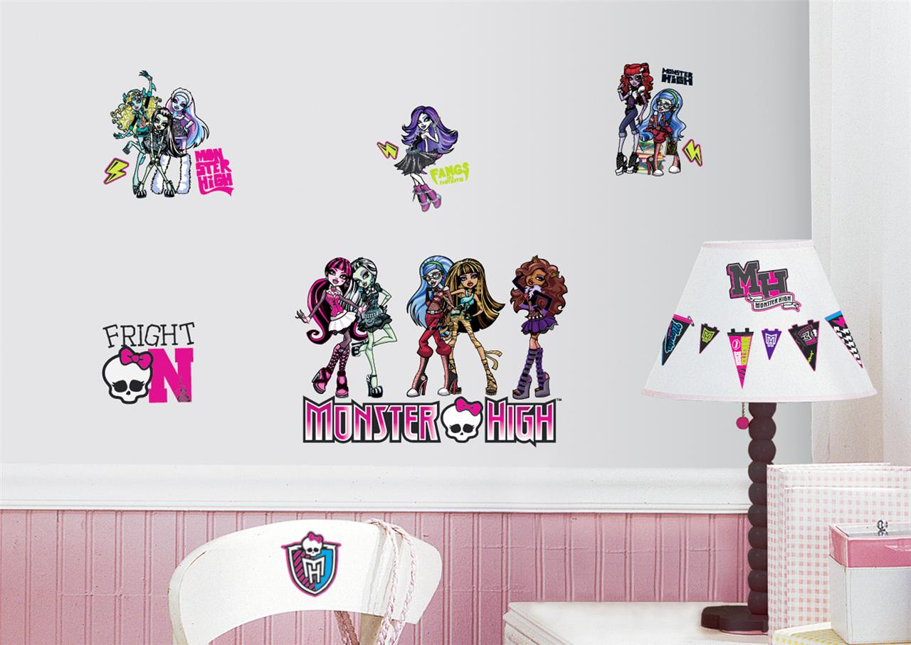 Monster High Wall Stickers. Kids Room Decorating Ideas