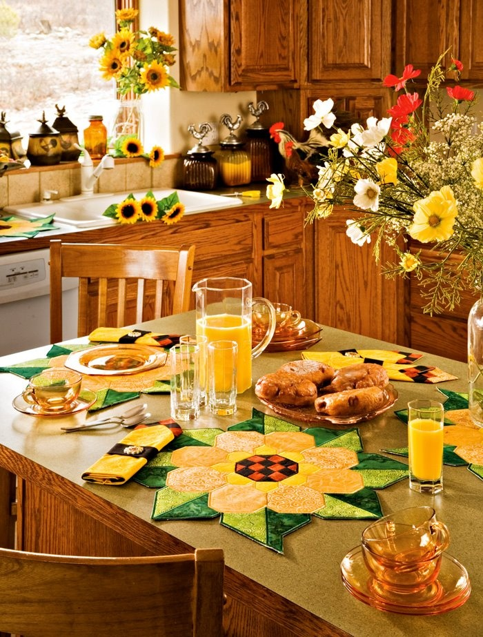 Sunflower kitchen decor ideas for modern homes for Cute yellow kitchen ideas