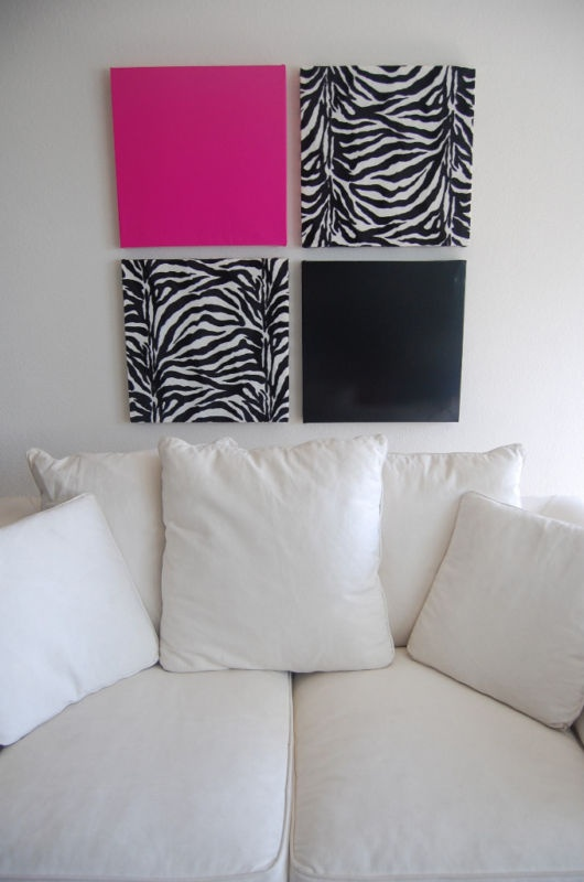 zebra print wall decor for modern homes