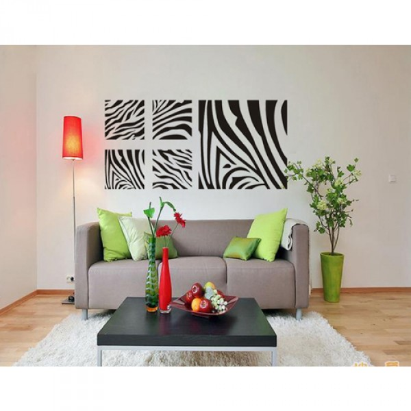 zebra print wall decor 1