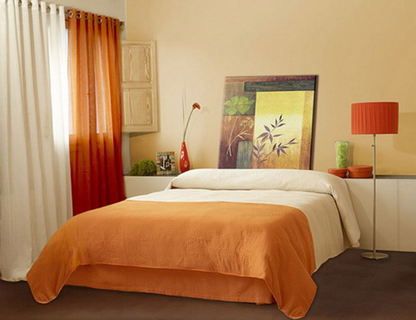 Modern small bedroom decorating tips for Bedroom inspiration orange