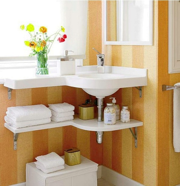 Creative diy storage ideas for small spaces and apartments for Unique small bathroom ideas