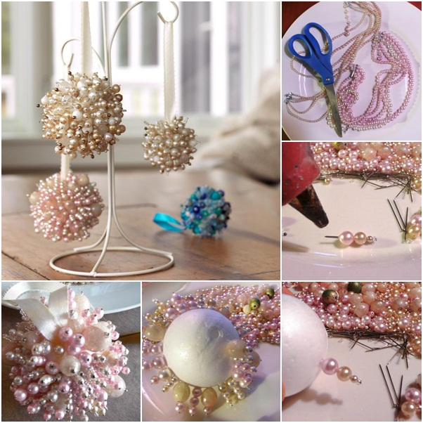 Diy home decor with beads crafts for Handmade home decorations ideas