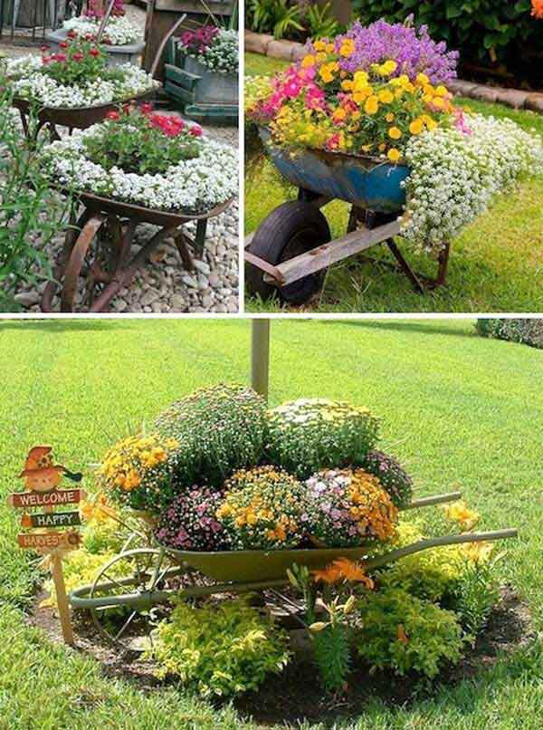 diy flower garden design ideas on homemade outdoor planter ideas