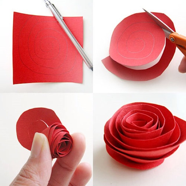 Diy paper flower tutorial step by step instructions diy paper flower tutorial mightylinksfo