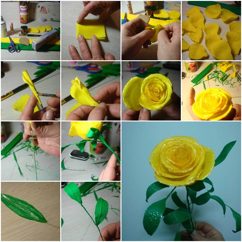 Diy paper flower tutorial step by step instructions for How to make easy crafts step by step