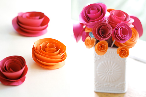 DIY Paper Flower Tutorial Step By Instructions