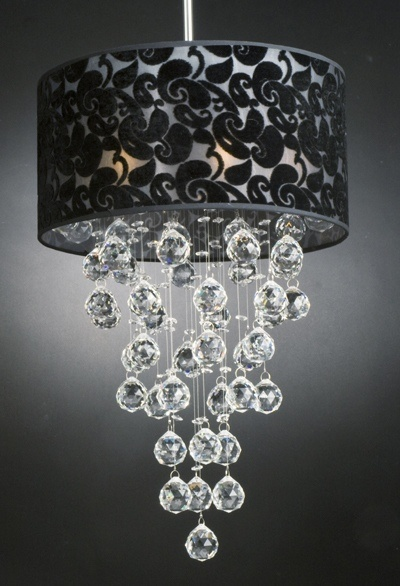 Diy home decor with beads crafts for Diy crystal chandelier lamp