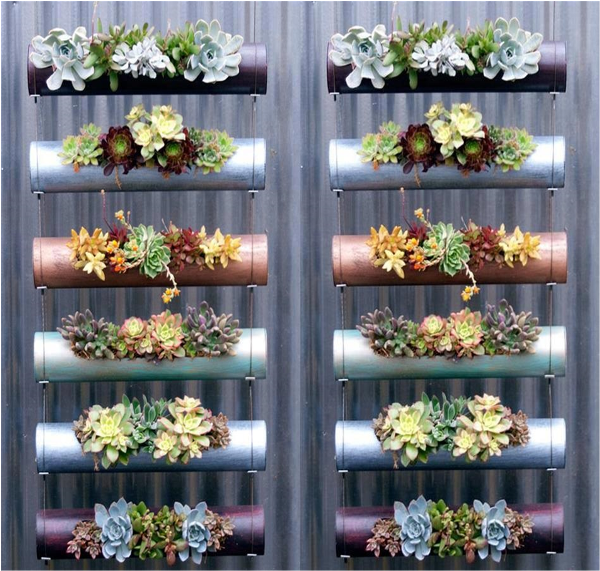 Easy vertical garden diy ideas for small spaces for Jardin vertical pvc