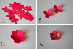 Hard paper flowers DIY