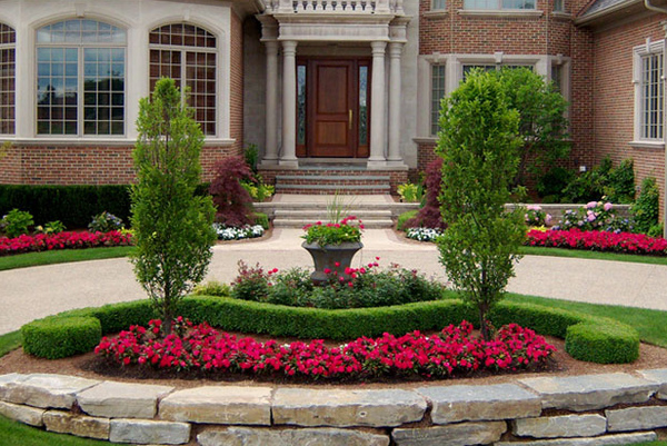 Easy driveway landscaping ideas for Front garden bed ideas