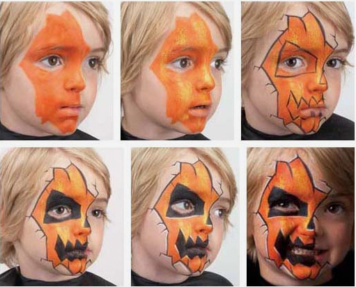 Scary Face Paintings For Kids Step By