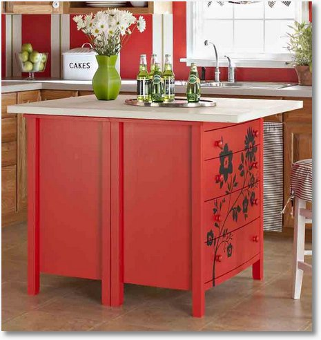 Kitchen Island From Dresser Kitchen Island Diy