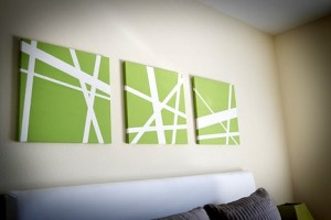 DIY canvas art ideas with tape