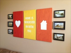 DIY canvas art tutorials