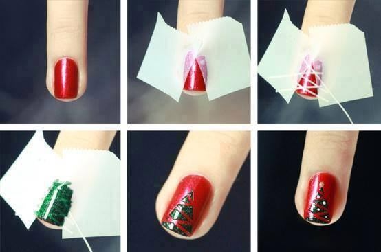 Stylish And Easy Diy Christmas Nail Art Designs View Images