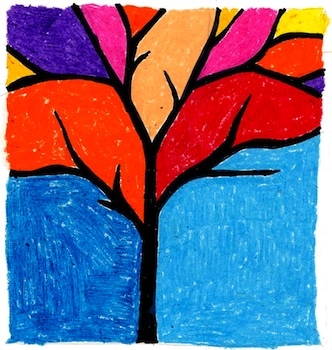 Cool art projects for kids at home and school for Canvas painting projects for kids