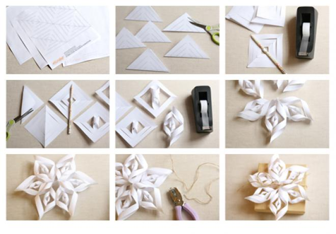 christmas decorations with paper