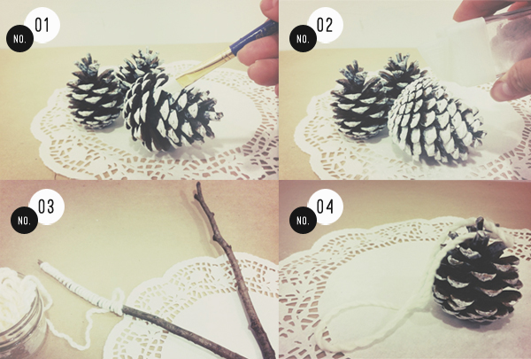 DIY Christmas Decorations With Pine Cones