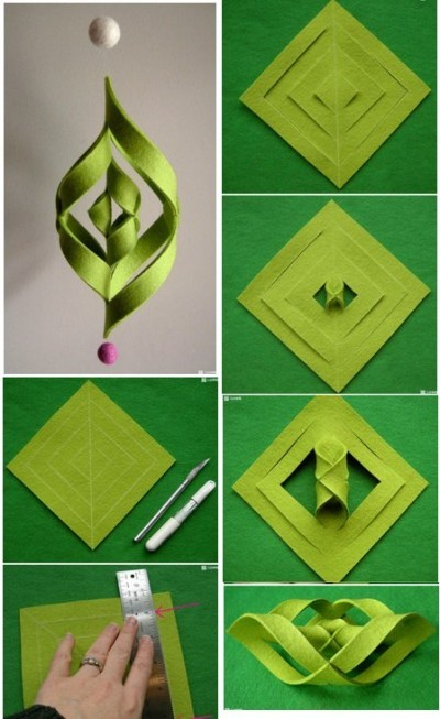 20 diy christmas decorations and crafts ideas for Paper christmas decorations to make at home