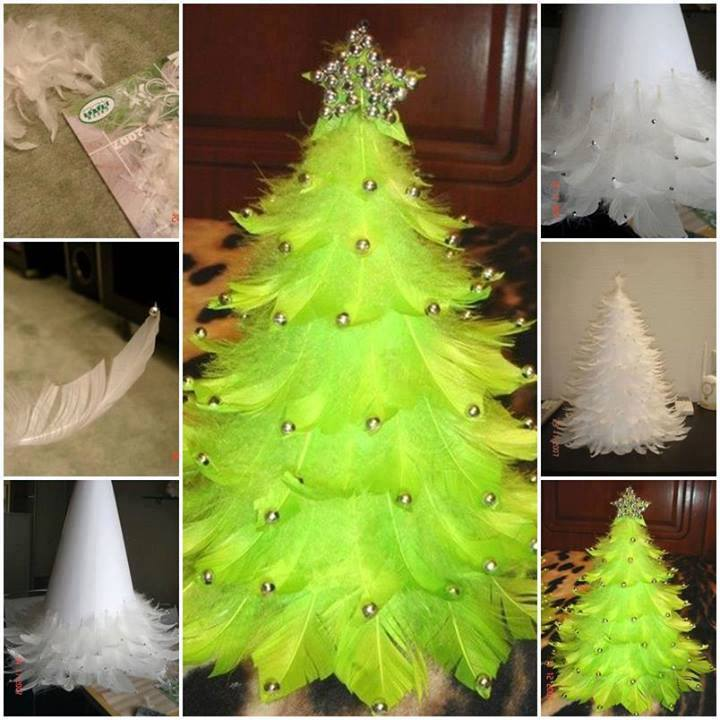 Unusual artificial christmas trees 2014 for Homemade tree decorations