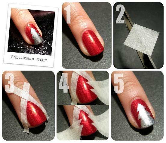 Easy christmas nail art designs diy 2014 christmas nail art designs 2014 prinsesfo Gallery