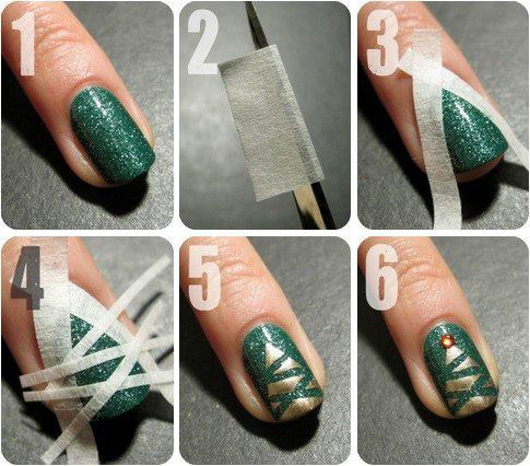 Easy christmas nail art designs diy 2014 christmas nail art designs tutorial prinsesfo Gallery