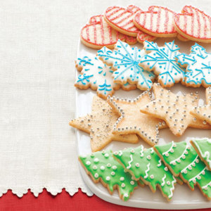 Christmas tree cookies decoration