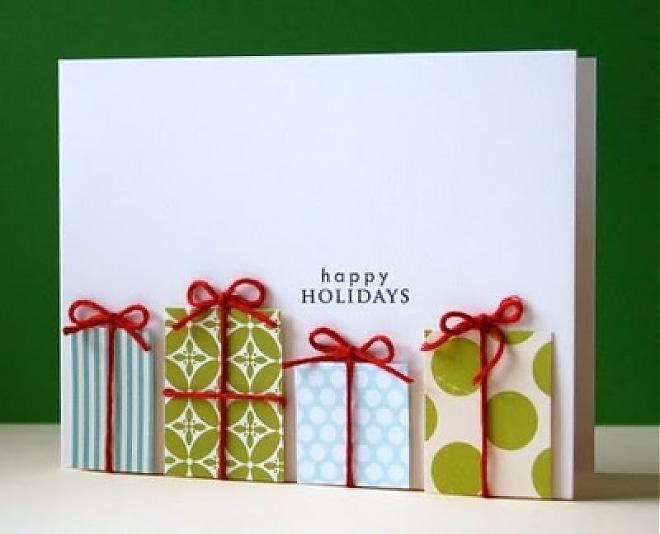 15 handmade creative christmas cards designs diy. Black Bedroom Furniture Sets. Home Design Ideas