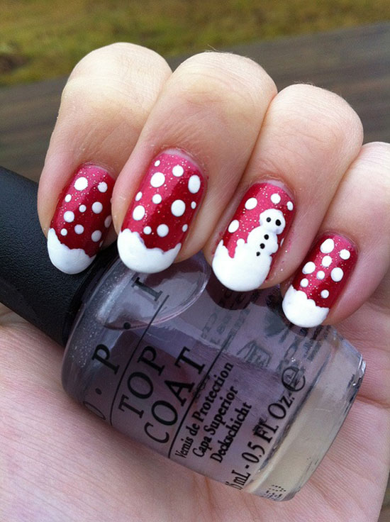 DIY Christmas nail art designs - Easy Christmas Nail Art Designs DIY 2014