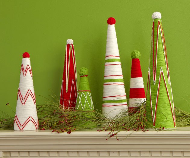 DIY Fake Christmas Trees On Budget