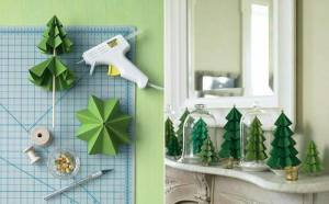 DIY artificial Christmas trees