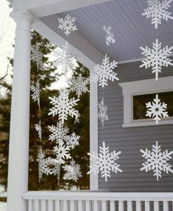DIY christmas balcony decorations