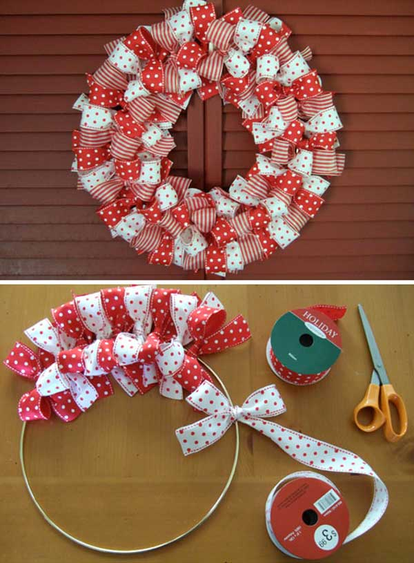 Easy christmas decorations diy ideas and tutorials Simple christmas wreaths