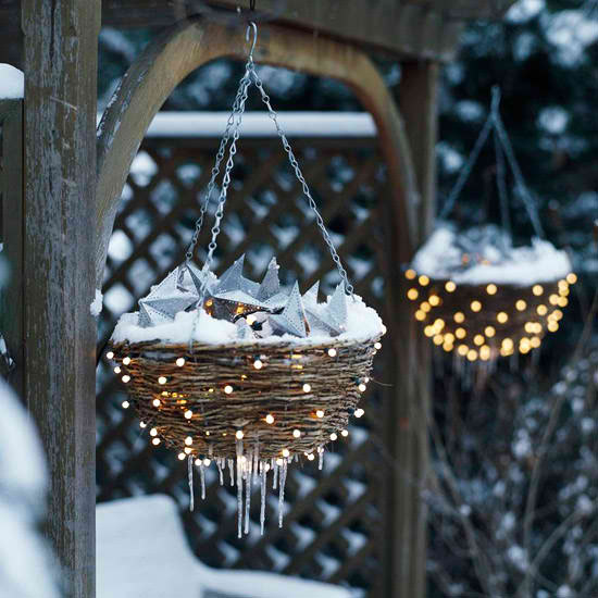 20 diy outdoor christmas decorations ideas 2014 for Hanging christmas decorations