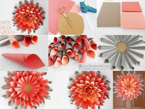 Easy christmas decorations diy ideas and tutorials for Paper christmas decorations to make at home