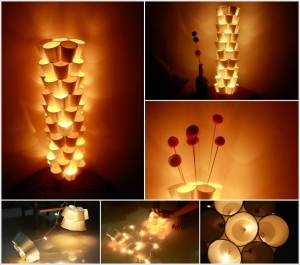 DIY paper lanterns for Christmas