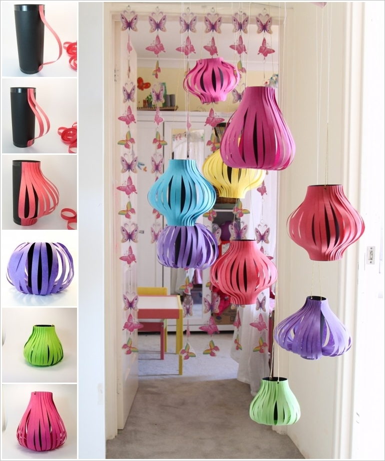 Diy paper lanterns for outdoor christmas decoration for Home decorations to make