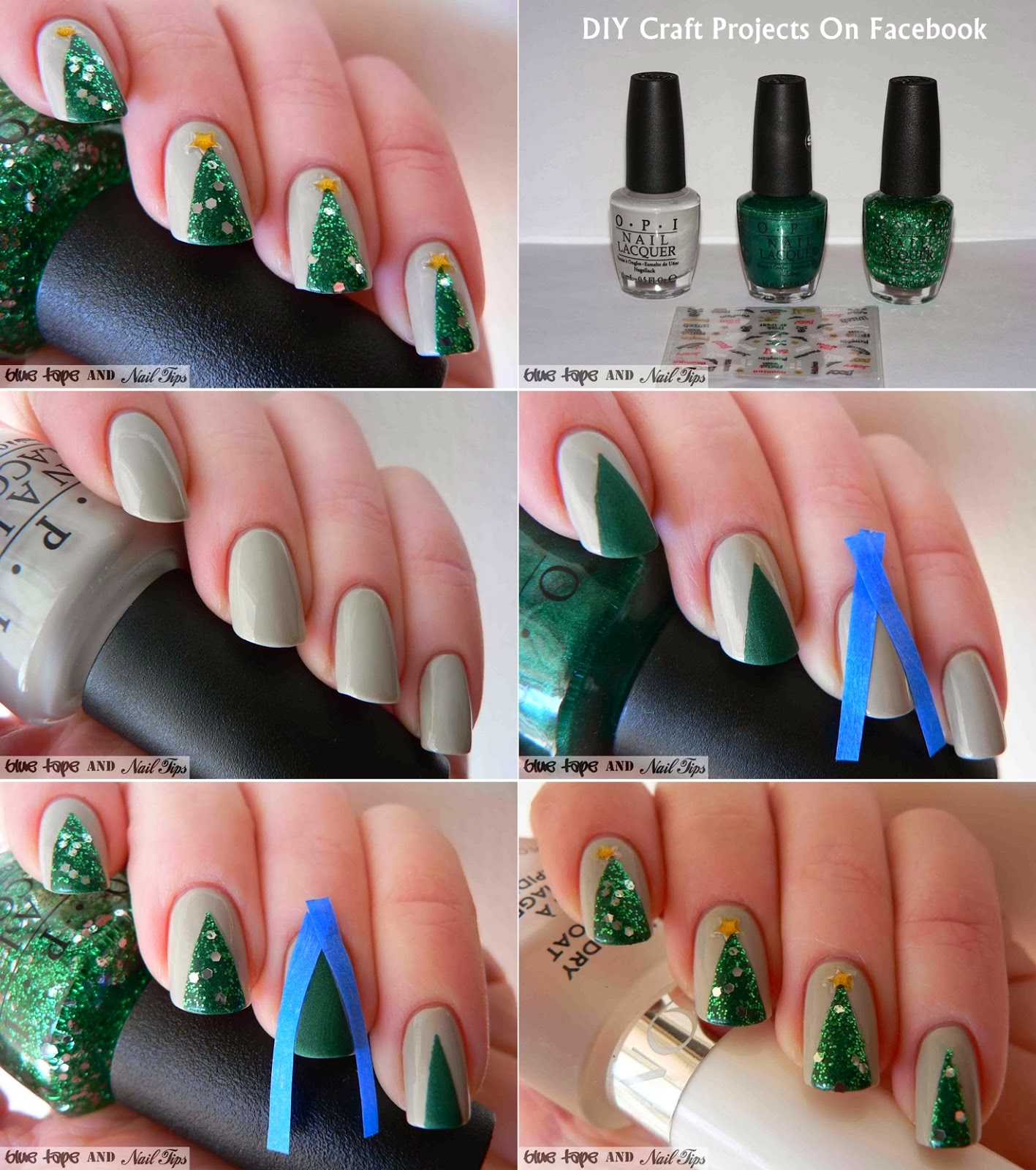 Easy Christmas Nail Art Designs DIY 2014 | nail art easy