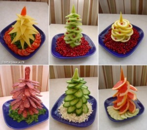 Easy food Christmas trees