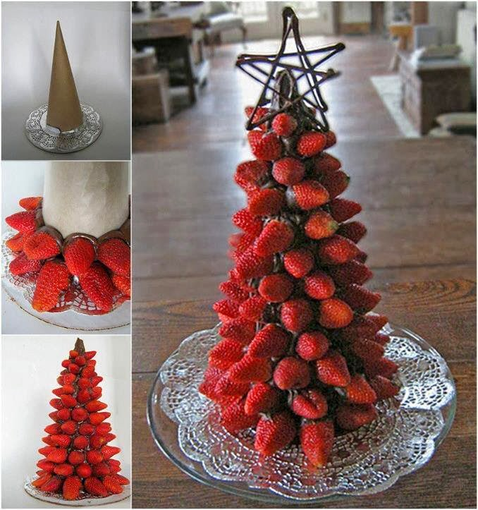 fake christmas trees with fruits - Different Christmas Trees