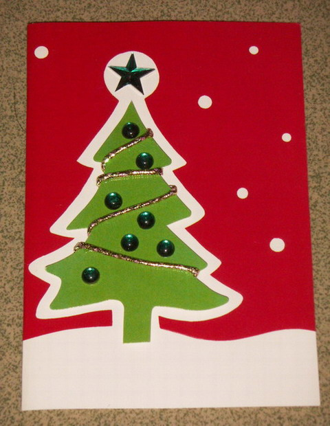 15 handmade creative christmas cards designs diy for Handmade christmas cards