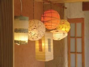 Hanging DIY paper lanterns