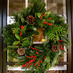DIY Christmas wreath outdoor