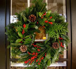 DIY Christmas wreath outdoor