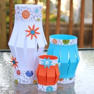 Homemade Christmas lanterns DIY