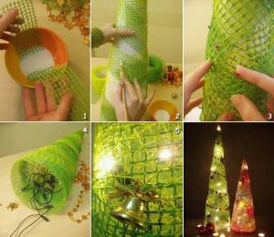 Make artificial Christmas trees