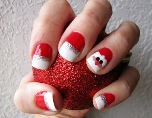 Santa nail art ideas 2014